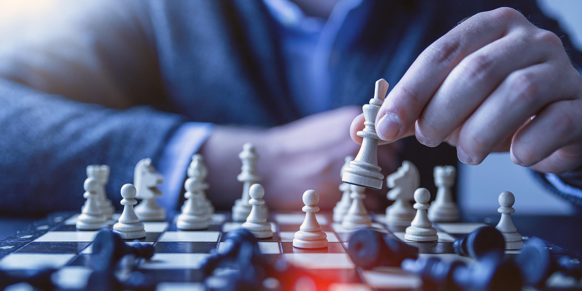 Schachspiel zur Verdeutlichung der Strategie